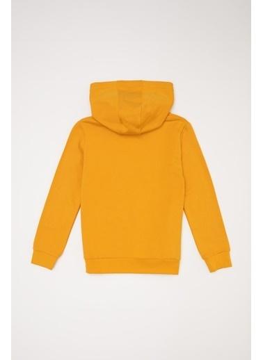 DeFacto Erkek Çocuk Baskılı Sweatshirt Sarı